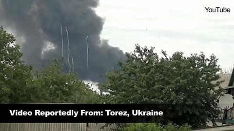 マレーシア航空機が墜落した時の映像